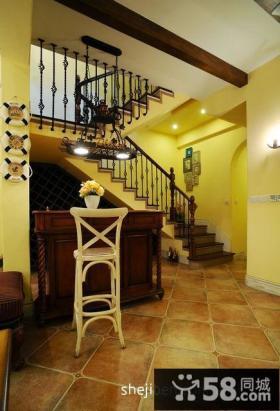 地中海复式楼梯装修效果图