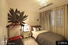 现代小卧室壁纸背景墙效果图欣赏