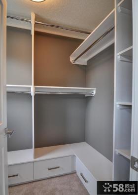 白色步开放式家居衣柜设计