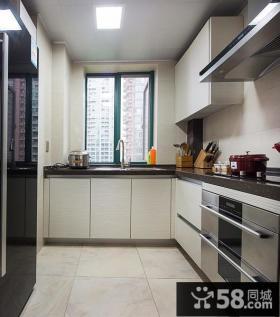 现代L型厨房装修