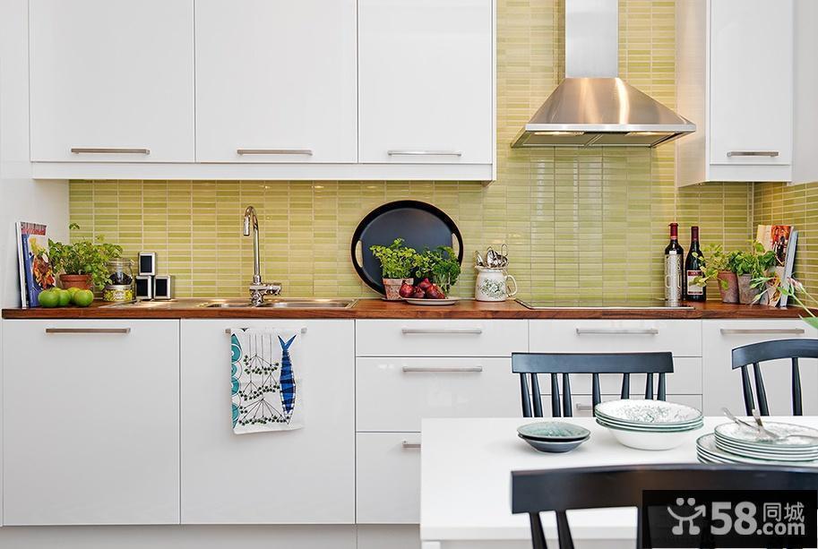 北欧风格厨房墙砖效果图片