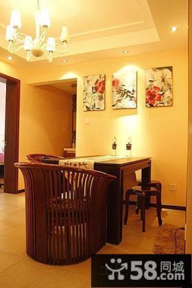 现代中式餐厅装饰画效果图