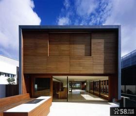 现代木质别墅外观设计