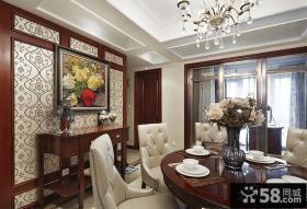 美式家庭餐厅装饰画图片