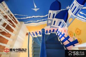 楼梯手绘背景墙装修效果图大全2013图片