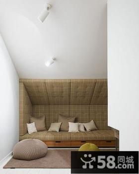 现代时尚复式家居阁楼装修效果图