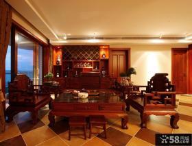 中式客厅复古家居摆放