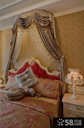 法式风格卧室墙纸效果图片欣赏