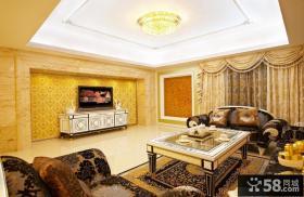 欧式风格高档家装客厅电视背景墙效果图大全