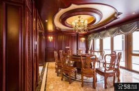 中式别墅豪华餐厅装修