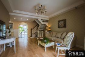 韩式田园风格私人别墅室内装修效果图