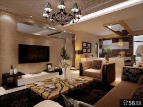 现代客厅电视背景墙装饰图片