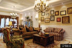 美式乡村风格家居客厅装修效果图
