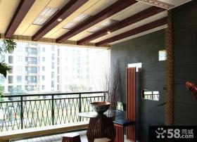 现代阳台吊顶装修效果图