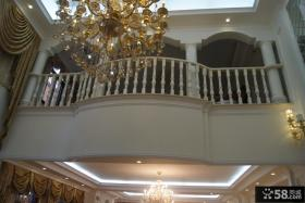 欧式风格别墅二层栏杆图片