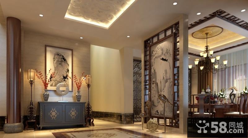 中式玄关屏风隔断图片
