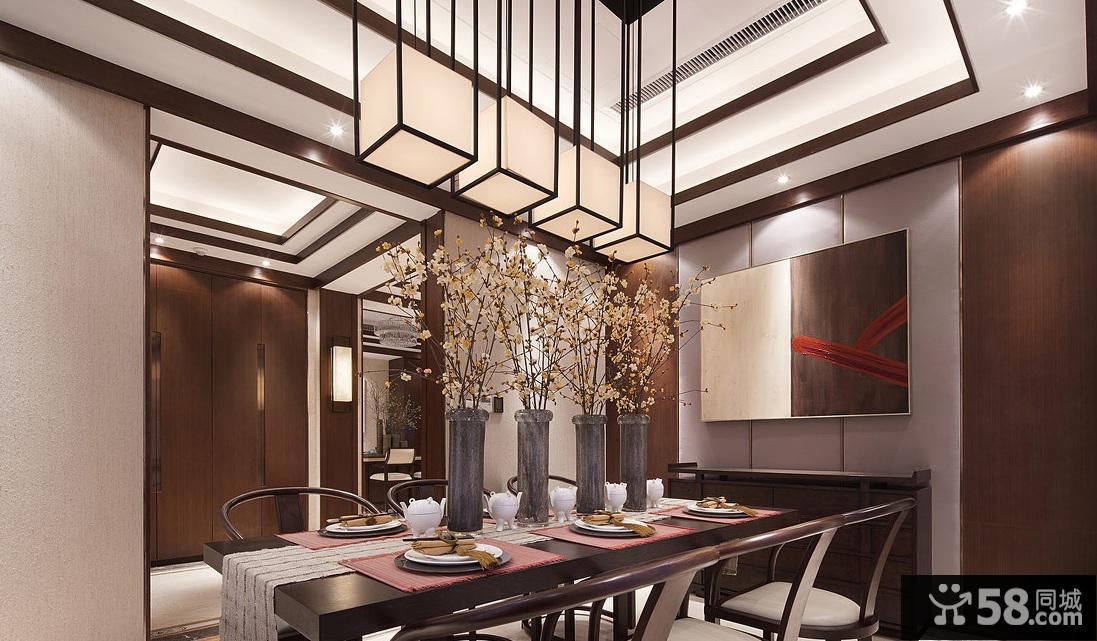 中式现代餐厅室内网站装饰效果图毕业设计风格题目的图片