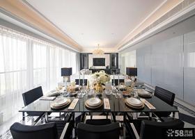 欧式客厅餐厅一体设计效果图片欣赏