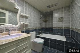 美式乡村风格室内卫生间装修效果图