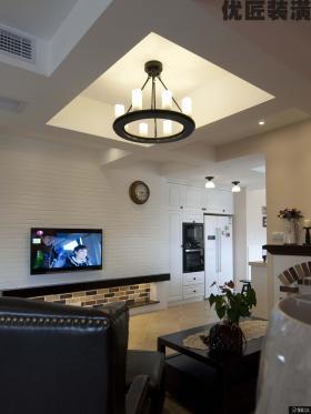 美式乡村风格客厅吊灯图片