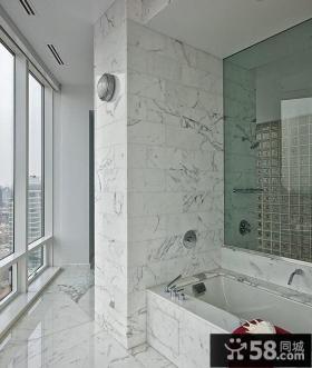 简约奢华的纽约复式浴室设计