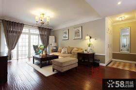 现代美式风格整体客厅装修效果图大全