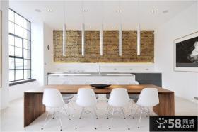 简约到极致的美式风格餐厅装修效果图大全2012图片