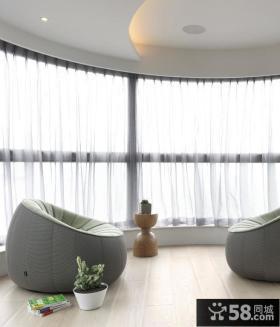 日式风格时尚阳台装修图片