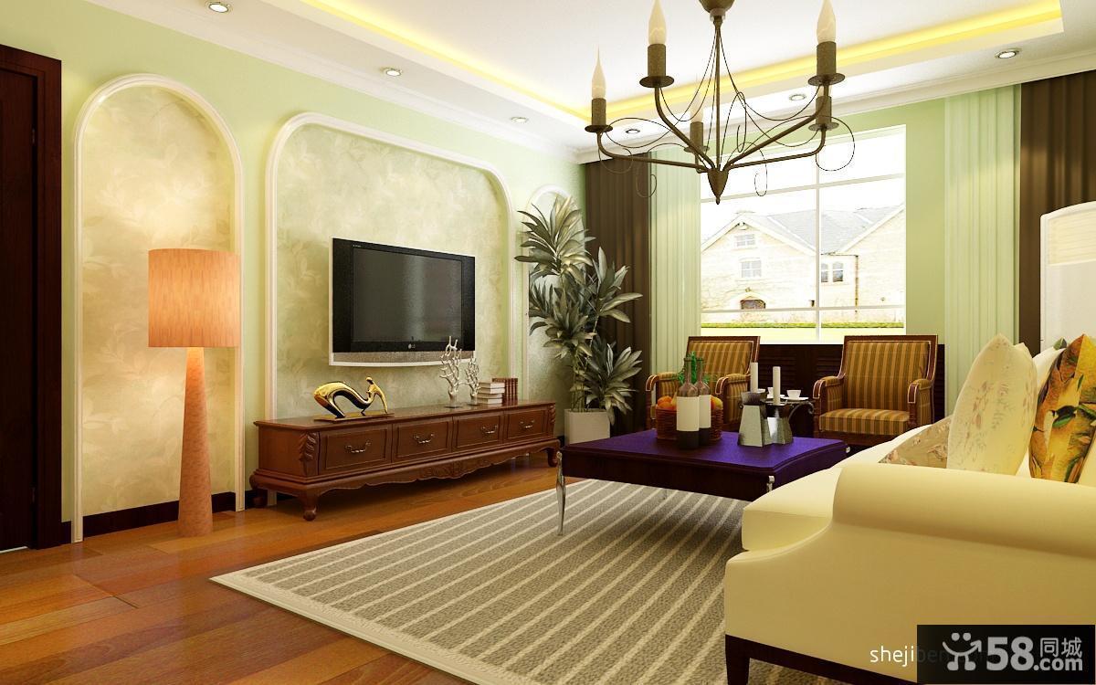 简约风格客厅电视背景墙造型