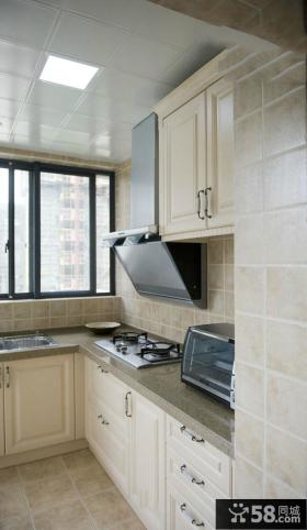 田园设计小厨房橱柜大全