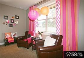 美式风格设计窗帘效果图欣赏大全