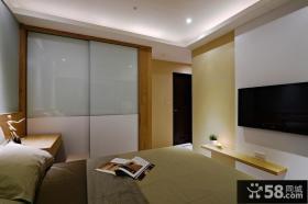美式家装设计卧室电视背景墙图片