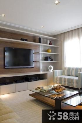 现代日式设计客厅电视背景墙大全