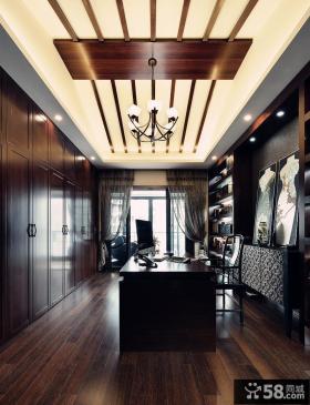 新中式设计别墅书房装修图片