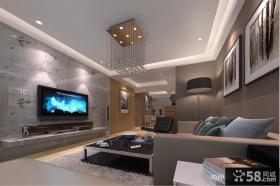 现代艺术瓷砖电视背景墙装修效果图