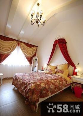 小复式楼卧室窗帘装修效果图