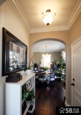欧式风格家庭进门玄关装饰效果图