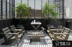 日式风格别墅阳台装修2014图片
