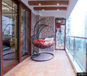 家庭生活阳台装修效果图片