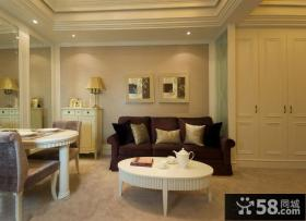 欧式客厅装饰画效果图片