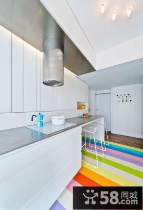 极简设计小复式室内餐厅效果图