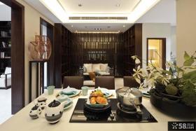 现代中式别墅室内装修效果图