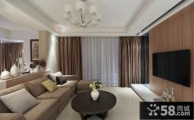 现代设计时尚客厅电视背景墙图片