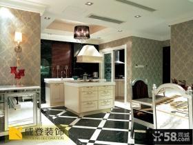 别墅开放式小厨房装修效果图片
