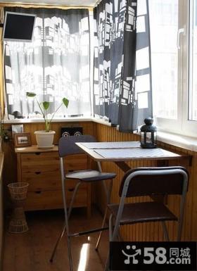 优质封闭式小阳台装修设计效果图