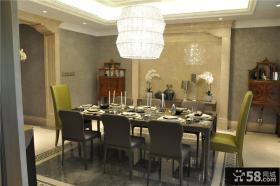欧式新古典风格餐厅装修设计