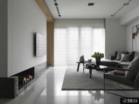 现代风格家装小客厅电视背景墙设计图片