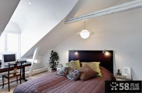 小复式楼阁楼小卧室装修效果图大全2013图片