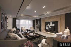 现代风格装修效果图大全2014图片客厅