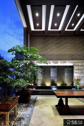 中式风格阳台集成吊顶装修效果图